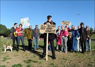 Arlington Reserve protest