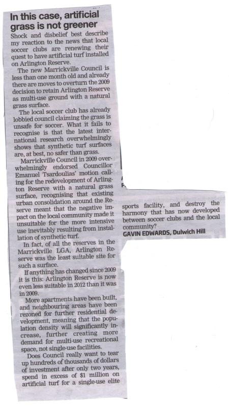 Gavin Edward's letter as published in IWC